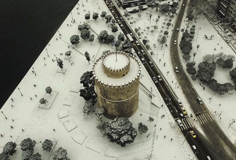 Αποτέλεσμα εικόνας για θεσσαλονικη χιονια