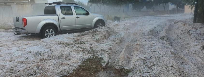 «Βουνά» πάγου άφησε πίσω της η κακοκαιρία στην Κρήτη!!