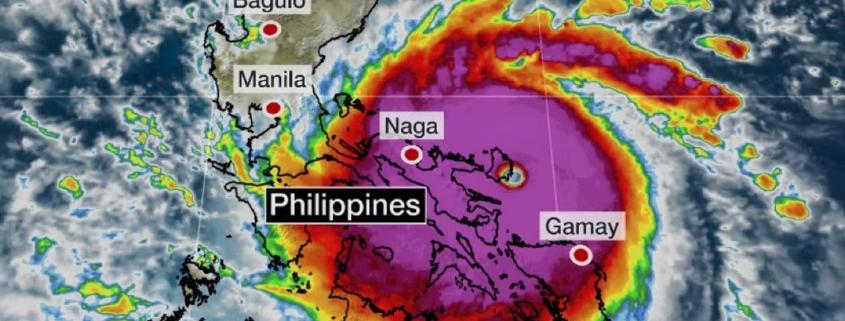 O Super τυφώνας Goni προσεγγίζει τις Φιλιππίνες