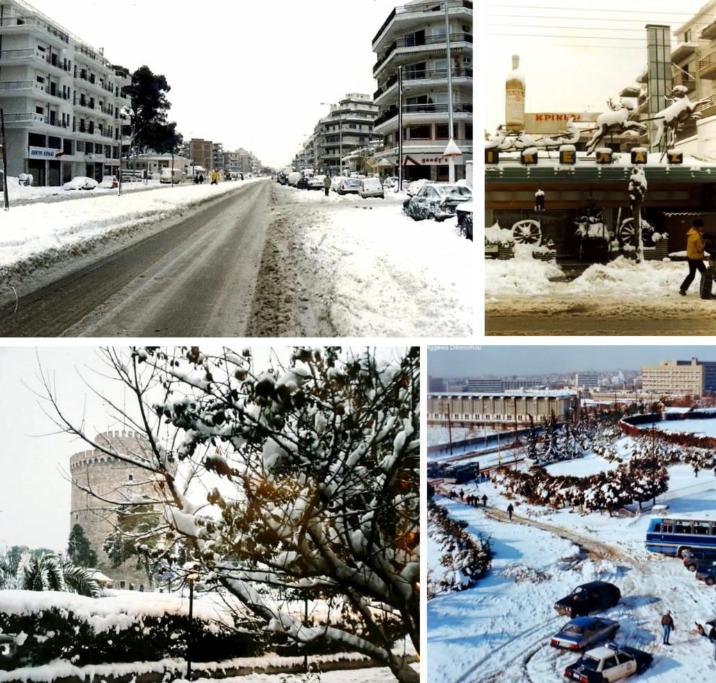 Θεσσαλονίκη χιονιάς 1988